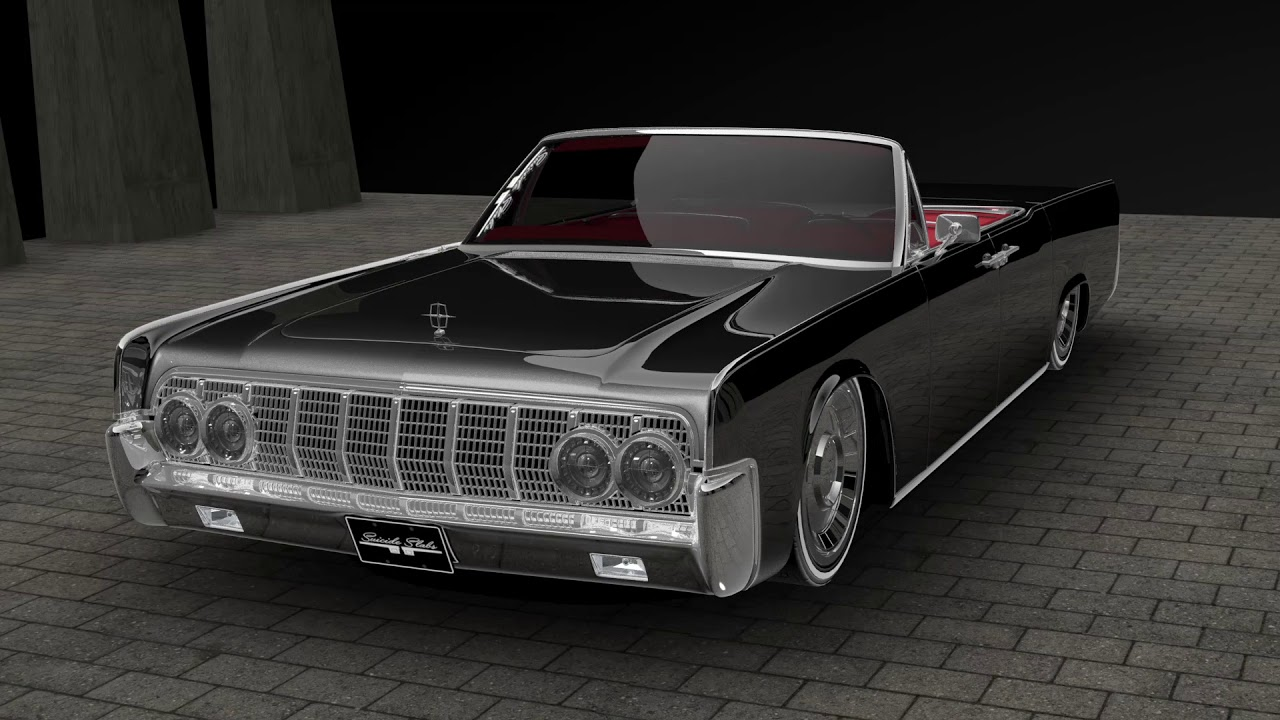 1964 lincoln continental convertible custom youtube. Black Bedroom Furniture Sets. Home Design Ideas
