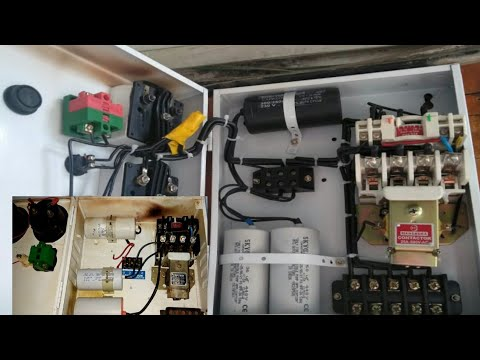 Submersible Motor Starter Connection With Drawing Youtube