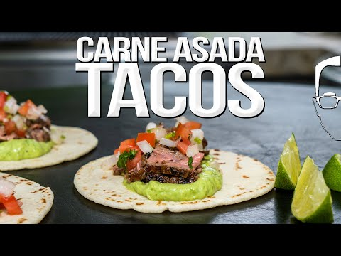 THE BEST CARNE ASADA TACOS I'VE EVER MADE | SAM THE COOKING GUY 4K