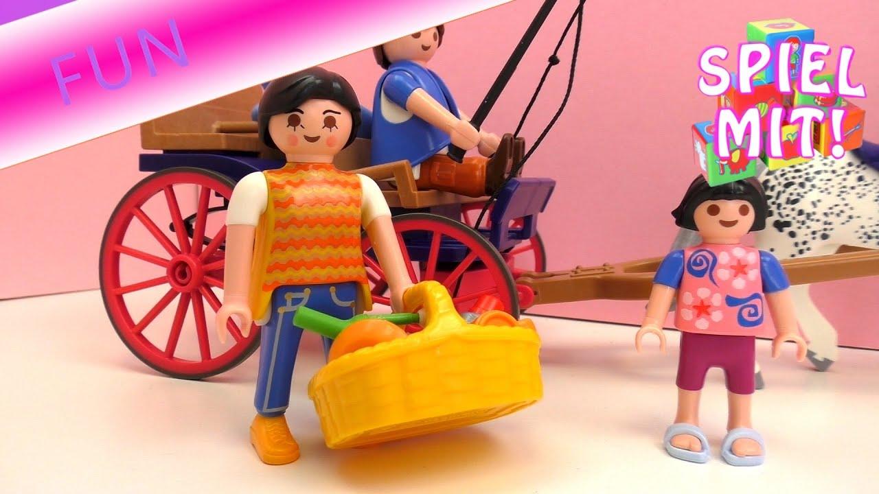 Playmobil pferde film deutsch mama und julia machen einen ausflug mit der pferdekutsche youtube - Pferde playmobil ...
