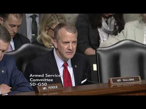 Sen. Dan Sullivan (R-AK) at a Senate Armed Services Committee Hearing - April 27, 2017