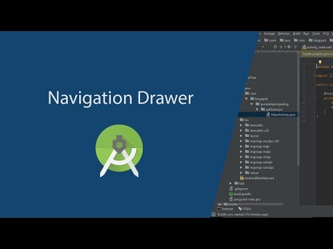 Navigation Drawer with Fragment & Activity in Android Studio