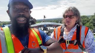 Part 2: Sky View of Fight Camp: David Alorka \u0026 Gareth A Davies preview Eddie Hearn show from a crane