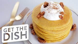 Easy Pumpkin Spice Pancakes Recipe | Get The Dish