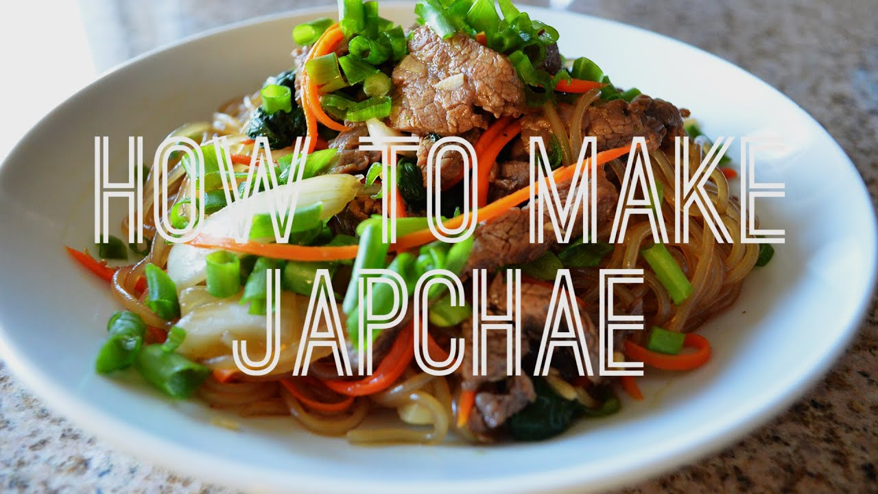 Quick easy japchae noodles recipe authentic korean food youtube forumfinder