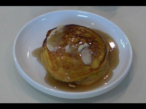 Pumpkin Pancakes with Cinnamon Honey Butter