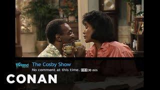 what conan s watching cosby show the voice edition conan on tbs