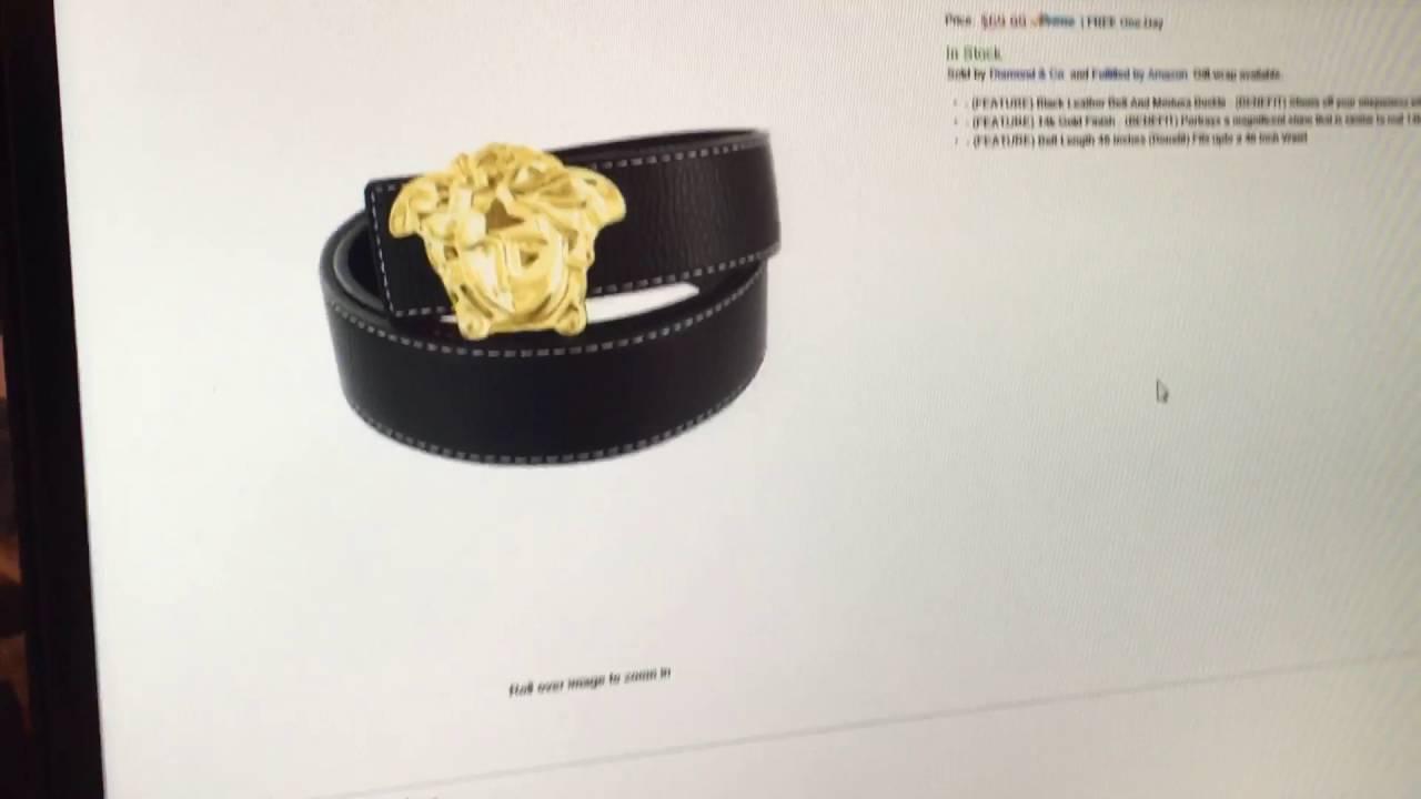 cf70a05b1531e9 Amazon sells fake belts and fake designer stuff - YouTube