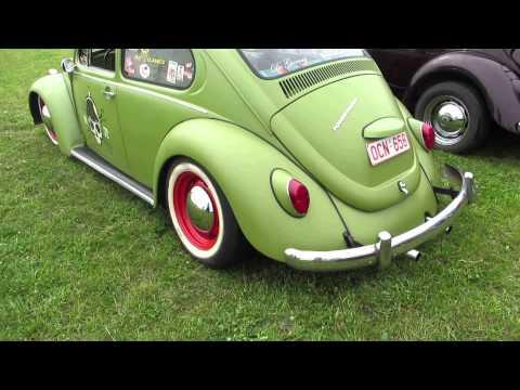 vw beetle green lowered @ Herentals 2013