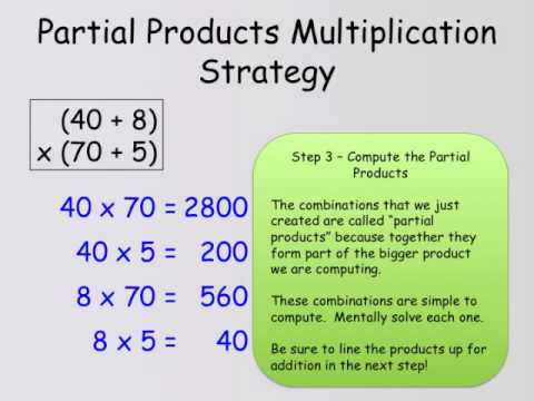 Partial Products Multiplication Strategy - YouTube