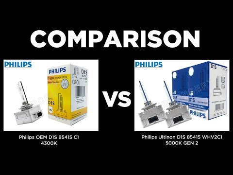 philips oem d1s 4300k vs philips white vision d1s 5000k. Black Bedroom Furniture Sets. Home Design Ideas