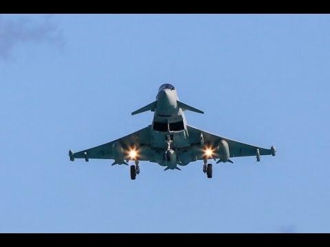 RAF Typhoons & Voyager Land In Bermuda, January 7 2015