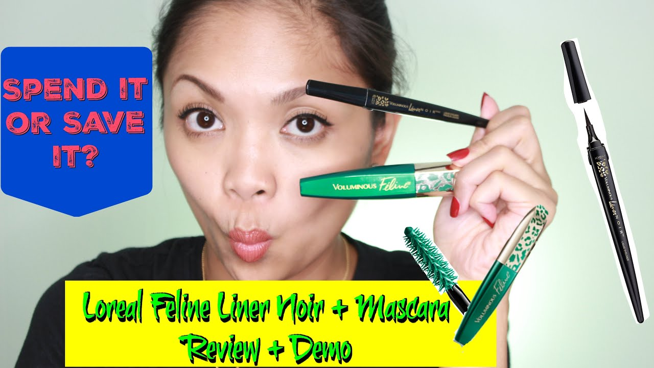 Loreal Feline Mascara + Liner Noir | Review + Demo - YouTube