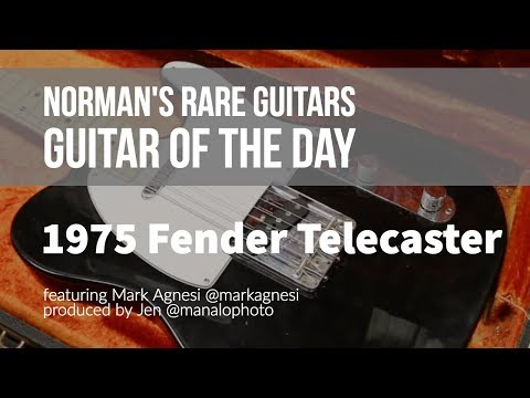 Norman's Rare Guitars - Guitar of the Day: 1975 Fender Telecaster