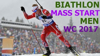 BIATHLON MEN MASS START 19.02.2017 World Championships Hochfilzen (Austria)
