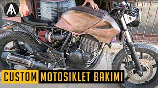 Motorla Bir Gün   Custom Motosiklet Bakımı