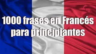 Cursos de francés: 1000 Frases en francés para principiantes  parte 1/2
