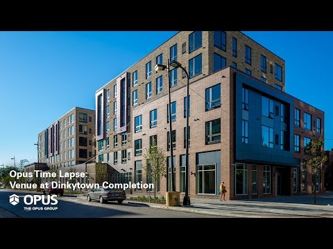 Opus Time Lapse: Venue at Dinkytown Student Housing Completion