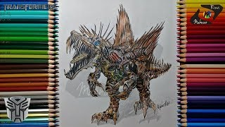 Drawing Scorn Transformers: Age of Extinction | Drawing Lapse | Artist Mahnoor Rizvi | YouTube.