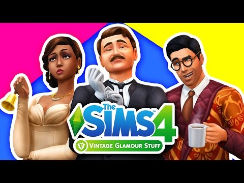 The Sims 4 Vintage Glamour Stuff Pack Overview and Gameplay! | The Sims 4 Vintage Glamour
