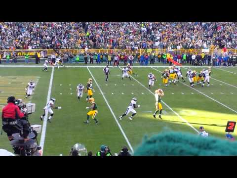 Short Pass from Scott Tolzien to Jordy Nelson