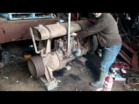 Fordson stationary engine first run