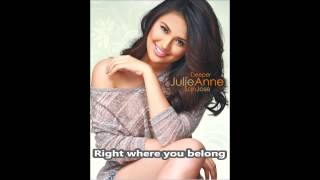 Julie Anne San Jose | Right Where You Belong | minus-one