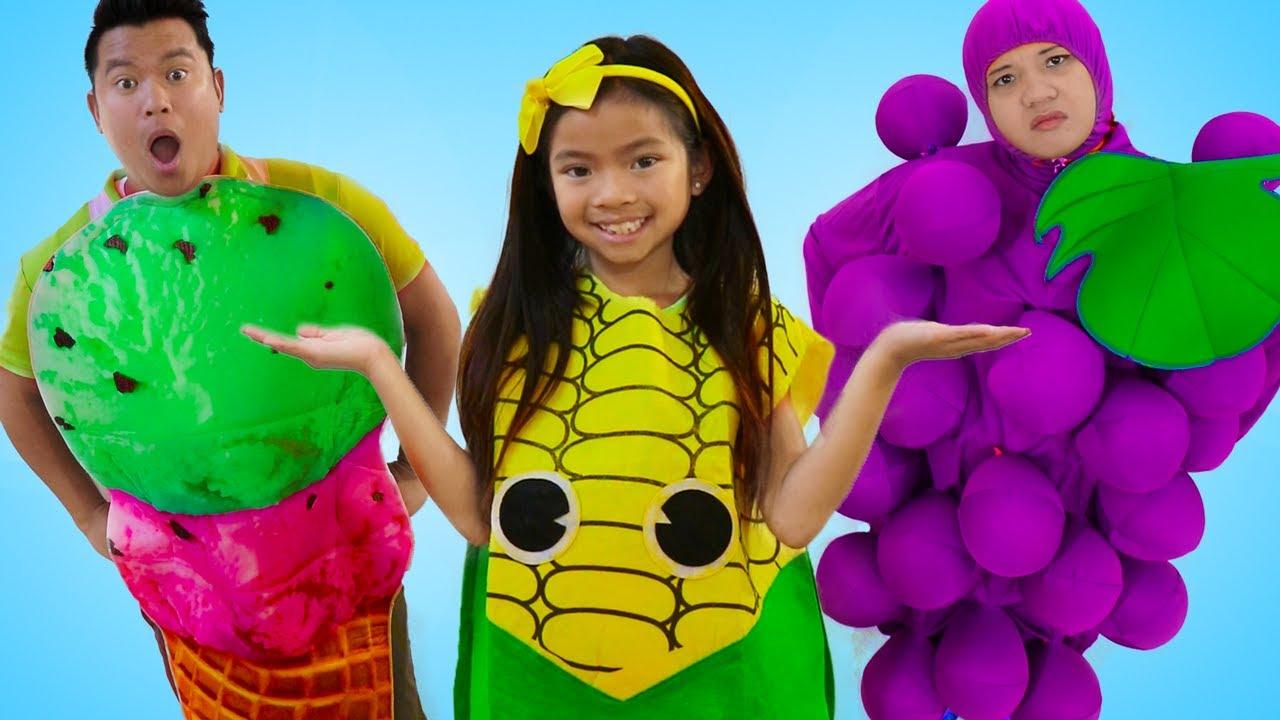 Emma vende y aprende frutas y verduras juguetes con Juguetes Educativos