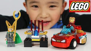 Building Our FIRST EVER Lego Juniors Iron Man Set With Ckn Toys