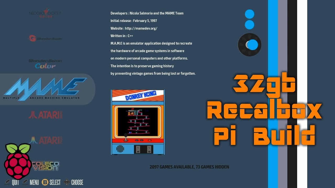 RecalBox Raspberry Pi Build - 27 Retro Gaming Systems in One