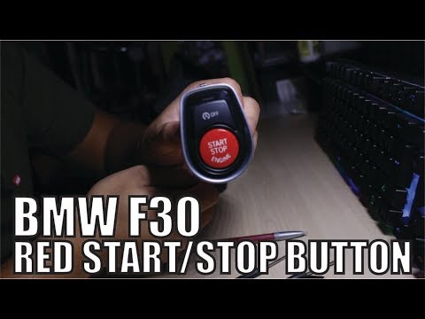 bmw f30 red start stop button installation youtube. Black Bedroom Furniture Sets. Home Design Ideas