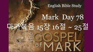 영어성경공부 마가복음 15장 16절~25절 Day78