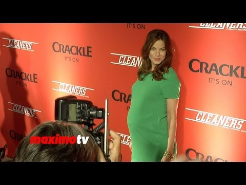 "Michelle Monaghan Pregnant ""Cleaners"" Screening Red Carpet - Crackle New Original Digital Series"