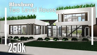 (250K) Green Rooftop Modern House SpeedBuild - Bloxburg ROBLOX