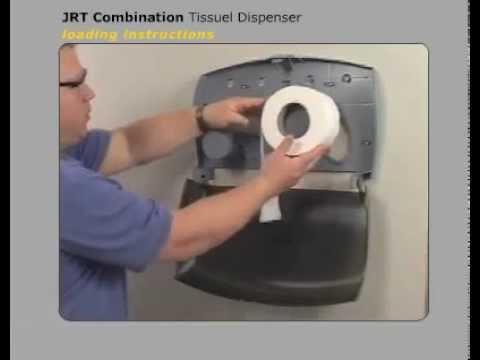 JRT-Twin Kimberly-Clark Toilet Tissue Dispenser Loading - YouTube