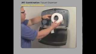 JRT-Twin Kimberly-Clark Toilet Tissue Dispenser Loading