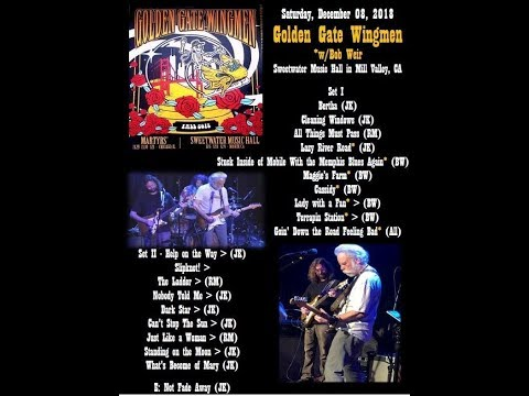 Bob Weir joins the Golden Gate Wingmen at the Sweetwater Music Hall