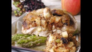 Apple-fig Stuffed Chicken Breasts