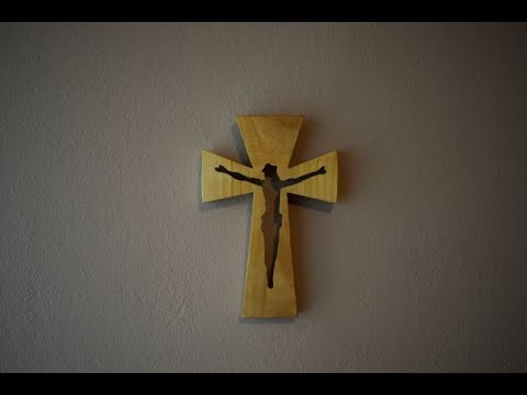 Making Wooden Wall Cross | Woodworking Project | Scroll Saw