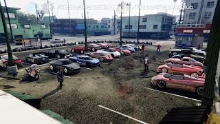 Grand Theft Auto V Online (XB1) | Exotic Car Meet Pt.3 | Car Show, Osiris Ride Along, Drags & More
