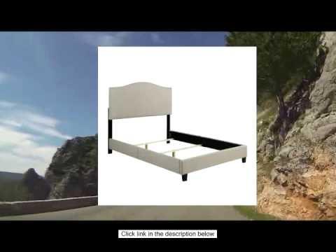 Handy Living NA BDQUN LIN82 02 Noleta Linen Bed Frame Set Queen Barley YouTube