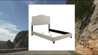 Handy Living Na-bdqun-lin82-02 Noleta Linen Bed Frame Set Queen Barley