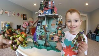 Father & Son GET BIGGEST PLAYSET EVER! Ninja Turtles Sewer!