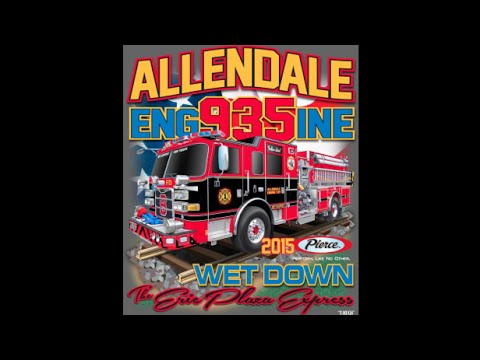 Allendale, NJ Fire Department Engine 935 Wetdown 9/12/15