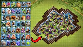 Who Can Destroy This Base Clash of Clans #2 | 100 All Troops vs TOP Base