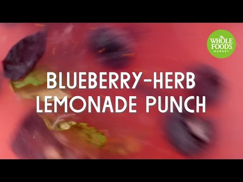 Blueberry-Herb Lemonade Punch l Whole Foods Market