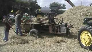 Baling Straw with a 1940's model Case Hay Baler