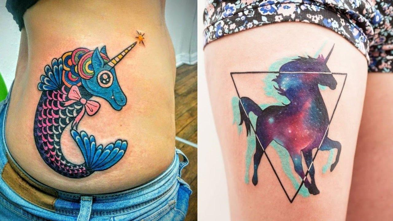 realistic unicorn tattoo - 1280×720