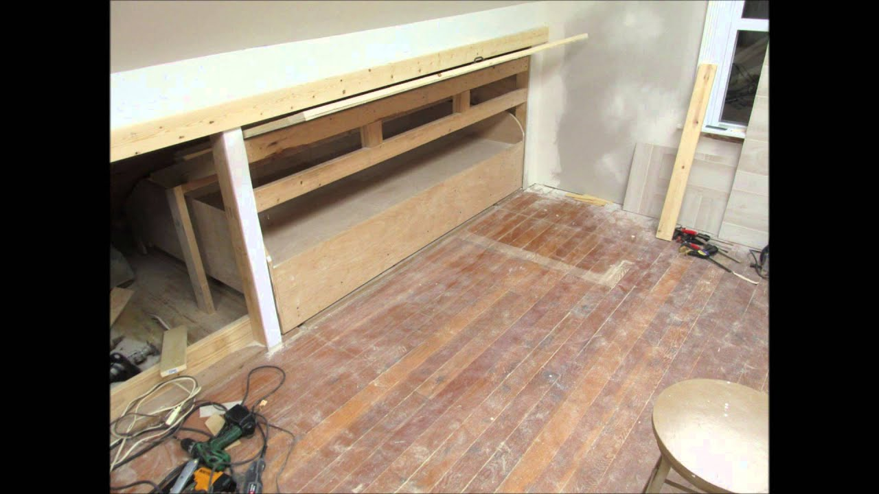 Hidden Pull Out Knee Wall Bed Youtube