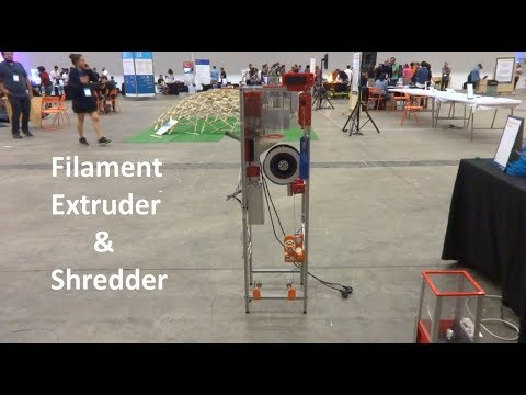 Recycling System For 3D Printing: Shredder + Filament Extrud